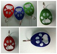 Wholesale bear opener for sale - Group buy Bear Paw Bottle Opener paw Shaped Key Chain Aluminium Alloy Beer Openers Portable creative party favor supplies FFA2855