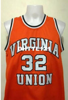 Wholesale any size for sale - Group buy Men Ben Wallace Virginia Union University College Vintage jersey Size S XL or custom any name or number jersey