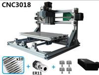 cnc router pvc al por mayor-Mini cortador láser Máquina de grabado Grabador láser Router ER11 GRBL Máquina para madera PCB PVC Mini CNC CNC Router CNC3018