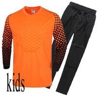 çocuklar futbol formaları formaları toptan satış-özelleştirilmiş isim ve numara Futbol Çocuklar Eğitim pantolon Suit Kaleci Formalar survetement futbol Gömlek formayı ayarlar