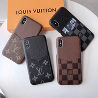 Wholesale iphone apple soft leather cases for sale – best Luxury Designer Phone Cases for iPhone pro max with Card Pocket PU leather Soft Back Cover