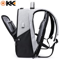 ingrosso male fashion backpacks-KAKA Nuovo Zaino per laptop da 15.6 pollici Maschio USB Business Zaino antifurto per uomini Zaini da viaggio Mochila Fashion Travel School 806
