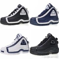 bottes de cuero al por mayor-2018 Nuevo cuero genuino Do The Old Zapatos de baloncesto casual Originales 96 OG Grant Hill II EVA Cojín Light Runner Athletic Shoes