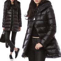 capas de tipo venda por atacado-New high-end tipo Manto das mulheres jaqueta para baixo Moda calor espessamento boneca SUYEN longo com capuz de ganso jaqueta