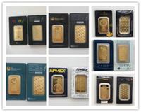cadeau en or 24 carats achat en gros de-1 once Perth Monnaie Argor Hereaus RCM APMEX barre d'or plaqué 24k or Bullion anniversaire cadeaux de vacances décorations pour la maison artisanat réplique