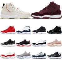 altın balo ayakkabı boyutu toptan satış-Gül İndirim 11 11s Prom Night Gama Mavi En İyi Altın Soğuk Gri Concord Platin Ton Kadınlar Basketbol Ayakkabı Spor Sneaker Boyut 7-13