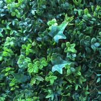 ingrosso recinzioni in plastica per giardini-2019 New Green Grass Piante di tappeto erboso artificiale Ornamento da giardino Prato in plastica Tappeto Parete Balcone Recinzione Per La decorazione domestica Decoracion