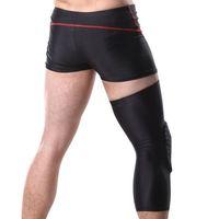 баскетбольные замки оптовых-New Gear Crashproof Adult Kids Sports Basketball Pad Breathable Leg Knee Long Sleeve Protector With Honeycomb Lock System