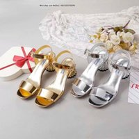 Wholesale office women cloths for sale - Group buy Lady Summer Silver And Gold Sandals Metal Buckle Large Leather High heeled Women s With Heels