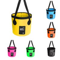 Wholesale basin wash bowl for sale - Group buy 12L Bucket D Folding Bucket Car Wash Outdoor Storage Basin Container Waterproof Buckets Portable Folding Bag Storage Fishing Bucket M238Y