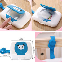 Wholesale cute seat covers resale online - Baby Wipes Case Wet Wipe Box Dispenser For Stroller Portable Rope Lid Covered Tissue Boxes Cute Kids Hanging Wet Wipes Dispenser