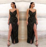 kleider für fiesta großhandel-2019 neue Sexy Schatz Lange Abendkleider Backless High Side Split Geraffte Bodenlangen Formale Abendkleid vestidos de fiesta BM0802