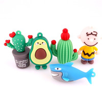 Wholesale baby girl pendant for sale - Group buy 5PCS Colorful Cartoon Shark Cactus Avocado Baby PVC Charms For Women Men DIY Making Car Pendant Keychain Bag Jewelry Gift