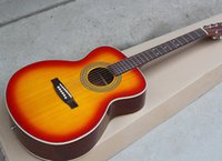 Wholesale acoustic guitar online - Factory Custom quot Cherry Sunburst Acoustic Guitar Chrome Hardwares Rosewood Fingerboard Top Solid Offer Customized