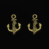 ingrosso fabbricazione di funi antichi-62pcs Charms corda di ancoraggio Bronzo antico placcato pendenti Fit Jewelry Making risultati Accessori 28 * 20mm