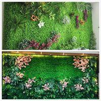 künstliche pflanzen für fischtanks großhandel-Umweltfreundliche Kunstpflanze Wand Kunstrasen Kunstrasenmatte Tiernahrung Matte Kunststoff Aquarium Gefälschte Gras Rasen Micro Landschaft