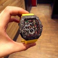 relojes mov al por mayor-reloj de lujo, 3A alto grado de material watch.RM 50-03 model.The los hombres está hecho de carbono-fiber.Multi función NTPT máquina automática mov