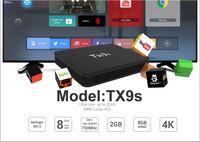 android tv kutusu octa çekirdeği 2gb toptan satış-TX9S Amlogic S912 Octa Çekirdek TV Box Android 7.1 2GB 8GB Media Player 2.4G WiFi 100M LAN 4K HD Smart Set Üstü Kutu