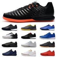tiempo ayakkabıları toptan satış-2019 Erkek TimpoX Finale IC Futbol Ayakkabı Yumuşak Zemin Ronaldo Neymar Futbol Boots Ucuz Tiempo Legend VII MD Kapalı Futbol Cleats
