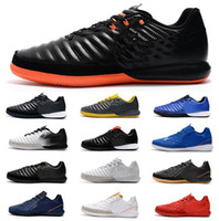 Wholesale neymar indoor soccer cleats resale online - 2019 Mens TimpoX Finale IC Soccer Shoes Soft Ground Ronaldo Neymar Football Boots Cheap Tiempo Legend VII MD Indoor Soccer Cleats