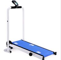 kapalı yürüme toptan satış-Mekanik koşu bandı çok fonksiyonlu kapalı katlanır yürüyüş makinesi ev koşu bandı dilsiz mini fitness ekipmanları