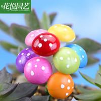ingrosso miniature garden-Foraway 8 colori Miniature Mushroom 50pcs per lotto all'ingrosso Fairy Garden Colorful Bonsai Decoration Spedizione gratuita