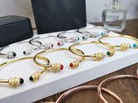 ingrosso accessori pietra rubino-Braccialetto di design Nuovo braccialetto di gemme elastiche Earl Color Bracciale di pietra Agata Ruby Malachite 2019 Accessori di lusso