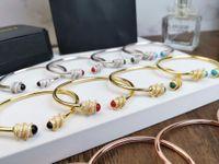 zubehör rubin stein großhandel-Designer-Armband New Elastic Gem Armband Earl Color Stein Armband Achat Rubin Malachit 2019 Luxus-Accessoires