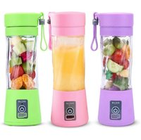 Wholesale blade sports for sale - Group buy Portable Blender MINI USB rechargeable Electric juicer Blender ml Blades Fruit Juicer Maker Blender Sports Juicing Cup KKA7873