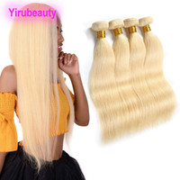 Wholesale 613 hair weave for sale - Group buy Peruvian Blonde Bundles Human Hair Extensions inch Straight Virgin Hair Wefts Double Weaves Pieces Yirubeauty