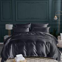 Wholesale soft silk bedding set resale online - Bedding Set Soft Simulation Silk Textile Comfortable Quilt Cover Pillow Case for Home Hotel Washable Durable Breathable Bed Set