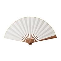ingrosso artigianato tradizionale artigianale cinese-Fan pieghevoli di carta Cina - Fan di bambù con la mano normale fan con le arti cinesi tradizionali Progetto fai-da-te fan portatili Favore della festa di nozze