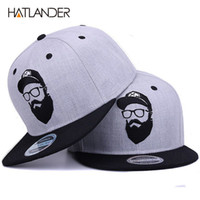 9f11220bbf8 [HATLANDER]Original grey cool hip hop cap men women hats vintage embroidery  character baseball caps gorras planas bone snapback D19011502