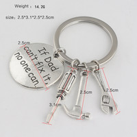 Wholesale small gifts for men resale online - Gift for Dad If Dad Can t Fix It No One Can Small Tools Keyring Alloy Keychains Accessories