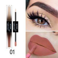 Wholesale eye shadow lip gloss resale online - Recommend In Lip Gloss Eyeshadow Liquid Long lasting Smudge proof Liquid Lipstick Eye Shadow
