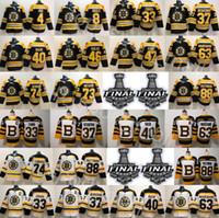 pastrnak trikot großhandel-Stanley-Cup-Finale 2019 Boston Bruins Charlie McAvoy-Trikot Jake DeBrusk Zdeno Chara Patrice Bergeron Brad Marchand Orr David Pastrnak Eishockey