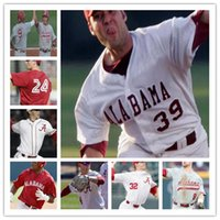 Wholesale alabama stitched jerseys resale online - College NCAA Alabama Crimson Tide Baseball stitched men youth women Jersey custom any name any number