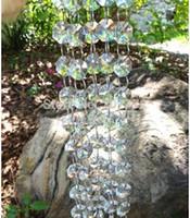 akrilik 14 mm kristal toptan satış-99 Ft Garland 14mm Akrilik Kristal Sekizgen Boncuk Garland Strand Düğün Dekorasyon Ev Pencere Dekorasyonu