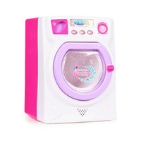 Wholesale toy washer for sale - 2019 Pink Simulation Washing Machine Electric Kitchen Washer Toy for Mini Drop Shipping