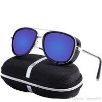güneş gözlüğü tony toptan satış-Samjune Demir Adam 3 Matsuda TONY stark Güneş Erkekler Rossi Kaplama retro Vintage Tasarımcı Güneş gözlükleri ulculos Masculino Gafas de