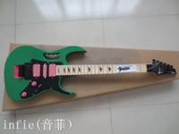Wholesale guitar maple fretboard resale online - new hot guitars jem v colorful inlay electric guitar green maple fretboard flyod rose tremolo guitar