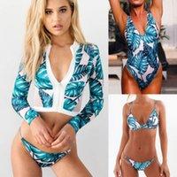 coolsten bikinis großhandel-Neue Frauen Bademode Beachwear Zipper Coole Hübsche Bandage Bikini Set Push-Up Gepolsterter Bh Badeanzug Badeanzug