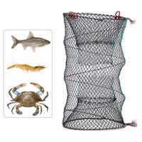 ingrosso pentole in ghisa-Pesca Trappola pieghevole Cast Keep Net gamberi di granchio Lobster Catcher Pot Trappola Pesce Net Eel Gamberetti Gamberetti Esca viva