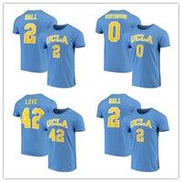 liebe uniformen großhandel-Neuer UCLA Bruins College-Basketball t-shirts Kevin-Liebes-Hemd Russell Westbrook Lonzo Ball Blau ncaa Hemden Uniformen Männer XS-3XL