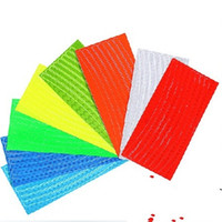 Wholesale strip decal resale online - Bicycle Wheel Sticker Reflective Light Stickers Mountain Bike Articles Strip Decal Safety Colors Mix Night Hot Sale ljf1