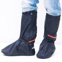 camping zapatos al aire libre al por mayor-Antideslizante Unisex Reutilizable Camping Oxford Paño Cubierta del zapato Protección contra el polvo Suela gruesa Nylon Actividades al aire libre Impermeable
