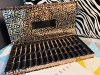 Wholesale m lipstick resale online - Leopard in1 Lipstick Set Makeup M c Matte Lipstick Kit Big Lip Cosmetics set colors DHL shipping