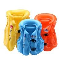 natación del chaleco salvavidas del bebé al por mayor-PVC bebé chaleco salvavidas niños niños flotador inflable traje de baño chaleco salvavidas chaleco salvavidas flotabilidad ayuda a la natación S M L