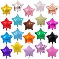 Wholesale inch Star Shape Balloons Multicolor Aluminium Foil Birthday Balloons Wedding Party Decorations