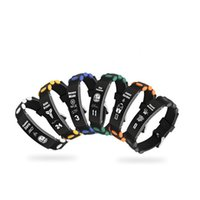 ingrosso braccialetto di pallacanestro di cuoio-Bracciale stella di pallacanestro Bracciale in acciaio di titanio 316L Bracciale in pelle di ciondolo Fans Bracciali commemorativi Accessori per gioielli commemorativi Regali